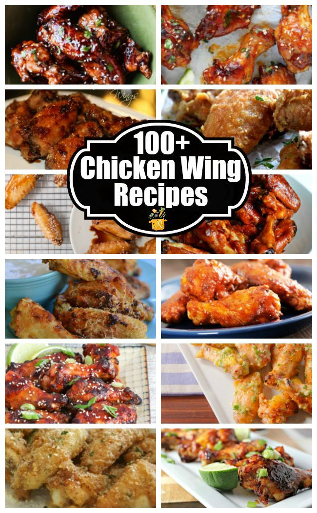 100+ Chicken Wing Recipes - perfect for movie night, game day, or any night!