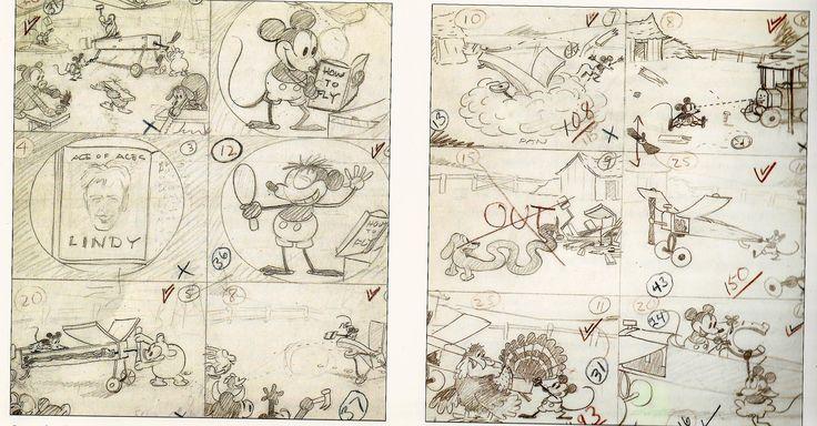 Ub Iwerks early MM storyboard