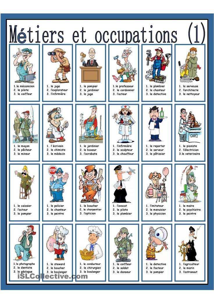 Métiers et occupations (1)
