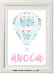 Tilda Hot Air Balloon Name Print