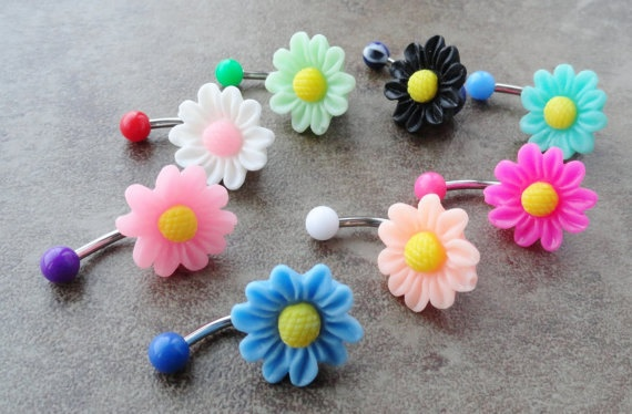 Daisy belly button rings!