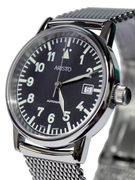 Aristo 4H11TU/4 Swiss Automatic Watch with Mesh Bracelet and Sapphire Crystal