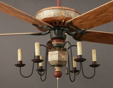 Primitive Bathroom Ideas | Mayflower, Patriotic Star Light Kit - eclectic - ceiling fans - by ...