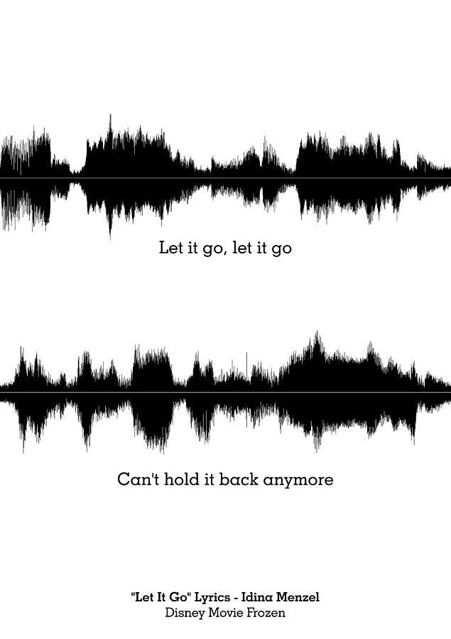 Disney Movie Frozen Music Waveform Print Poster Digital Art #Music# #Quotes#