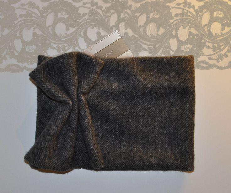 #scarf #infinity #neck #fashion #style #wool #handmade #grey