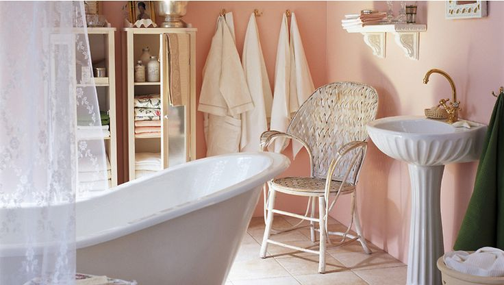 Een romantische badkamer