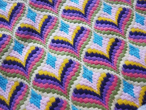 Back Stitch Embroidery On Knitting : 1000+ images about Bargello Needlework on Pinterest Back to, Embroidery and...