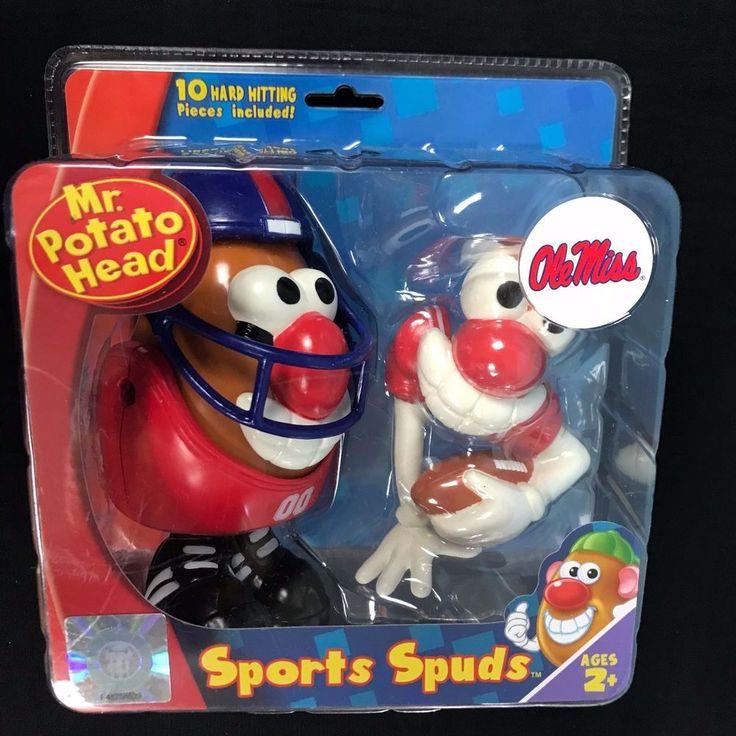 Mr Potato Head Sports Spuds UNIVERSITY MISSISSIPPI Football College OLE MISS NEW #MrPotatoHead #UniversityofMississippi
