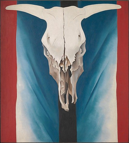 Georgia O'Keeffe, Cow's Skull: Red, White, and Blue, 1931, oil on canvas | The Mets