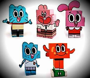 The Amazing World Of Gumball Paper Toys - by Cartoon Network Asia - = -  In the Asian version of the Cartoon Network website you will find five paper toy characters from The Amazing World Of Gumball animation.