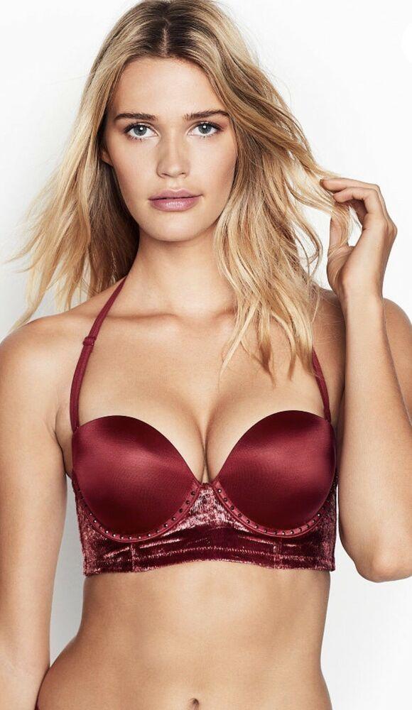 81327c7a018f5 New Victoria Secret Very Sexy Ruby With Shine velvet Strapless Bra 34DD   65.80  fashion