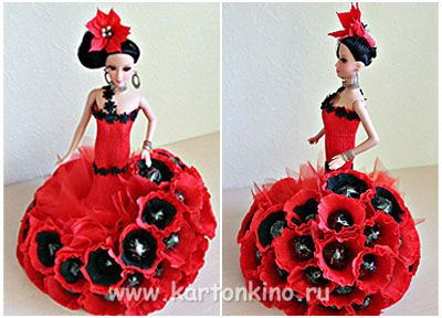 Испаночка - кукла из конфет своими руками