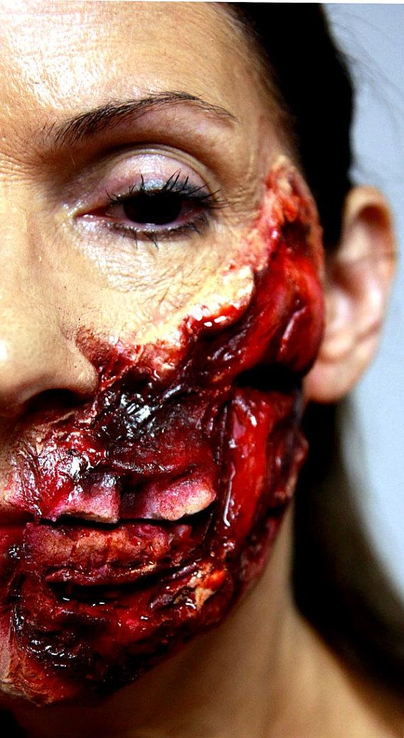 Ripped Out Flesh Latex Prosthetic Zombie Makeup Halloween Makeup Zombies Special