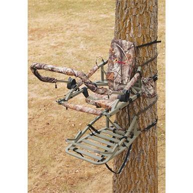 API Star All - aluminum Climber Tree Stand, Realtree AP