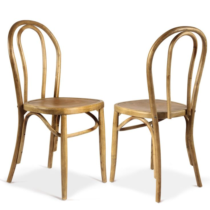 Adeco Elm Wood Antique Bistro Dining Chair (Set Of