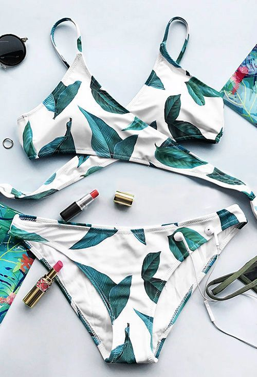 Treat Yourself to Something Special. This fashion Fresh leaves printing swimwear will be the best swimsuit for the beach party! Front cross and the dangerously tie at back will have heads turning and you are feeling like a beach star! Shop Now!