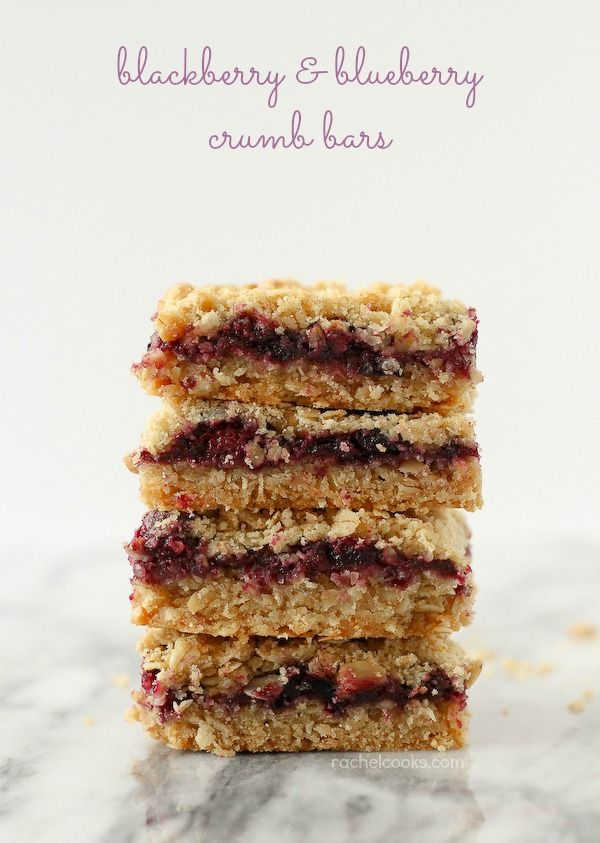 Blackberry and Blueberry Crumb Bars