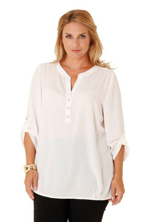 Μπλουζοπουκάμισο μονόχρωμο με κουμπιά - Νέες Παραλαβές | XLcloset
