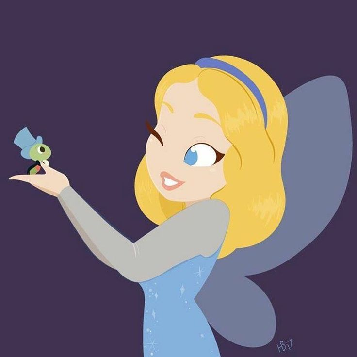 Hollie Ballard Art | Blue Fairy & Jiminy Cricket | Pinocchio | El Hada Azul y Pepito Grillo | @Dgiiirls