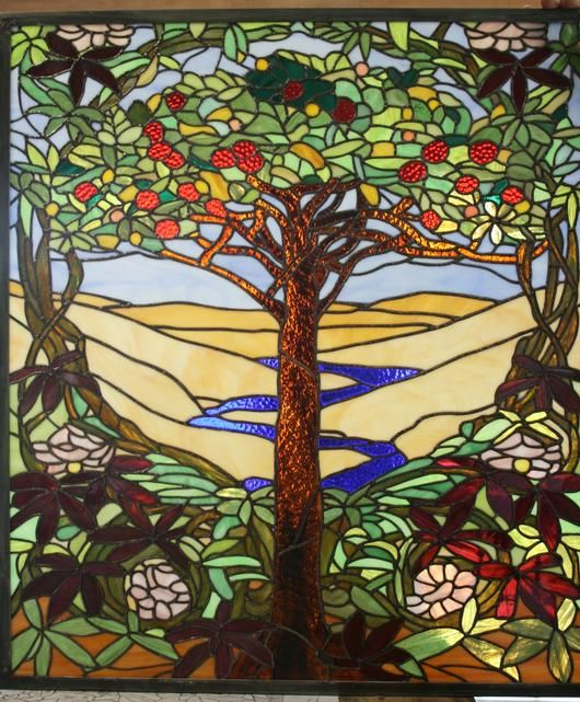Tree Stained Glass Patterns Tiffany Tree Of Life