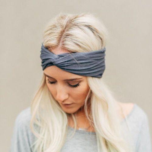 1 stks Stijlvolle Vrouwen Geknoopt Haarband Katoen Elastische Tulband Twisted Cross Hoofdband Sport Running Hoofd Wrap Haaraccessoires