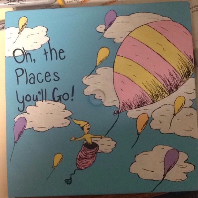 "I just decorated my graduation cap !! ""Oh, the places you'll go to!"" future primary school teacher xD"