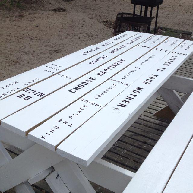 lake house picnic table