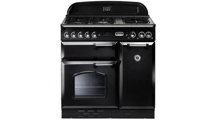 Falcon Classic 90cm Dual Fuel Freestanding Cooker - Black Chrome - Freestanding Cookers | Harvey Norman Australia