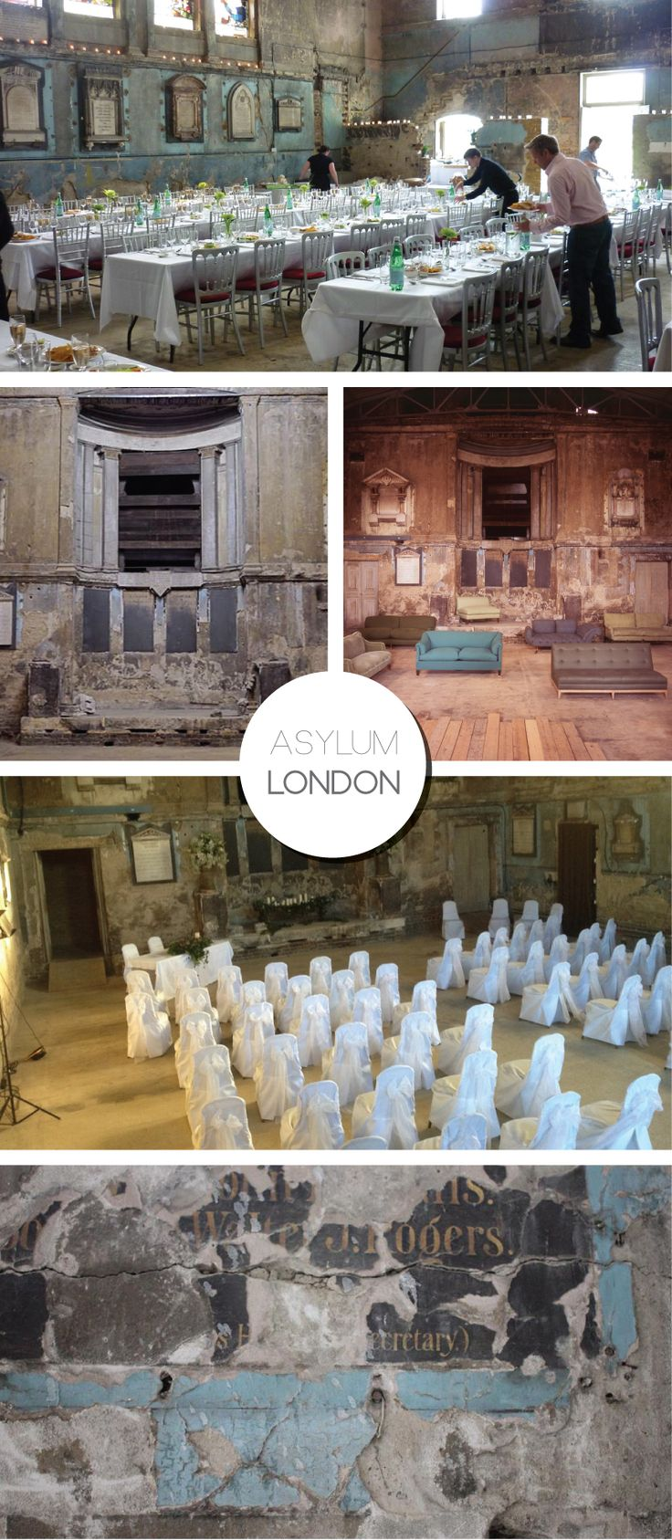 Asylum Wedding Venue | London on Bride Bubble - Wedding & Style Blog.