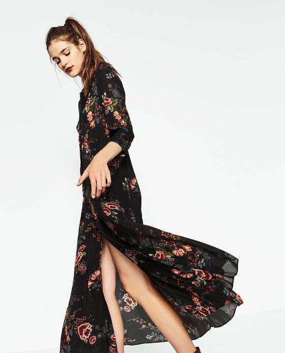 Zara kleid lang rosa