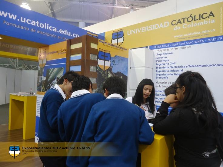 UCatólica se hizo presente en la Feria de la Educación Superior-Expoestudiante, realizada en Corferias entre el 16 y 19 de octubre.