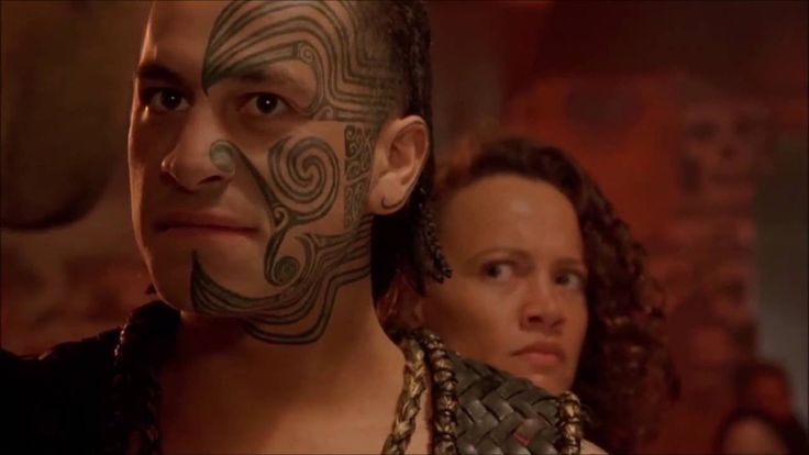 """Hard man Jake """"The Muss"""" Heke (Temuera Morrison) finds out his mate Uncle Bully (Cliff Curtis) raped his daughter Grace - Once Were Warriors"""