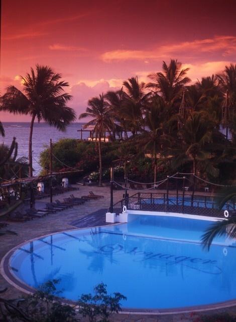 Voyager Beach Resort on Nyali Beach in Kenya