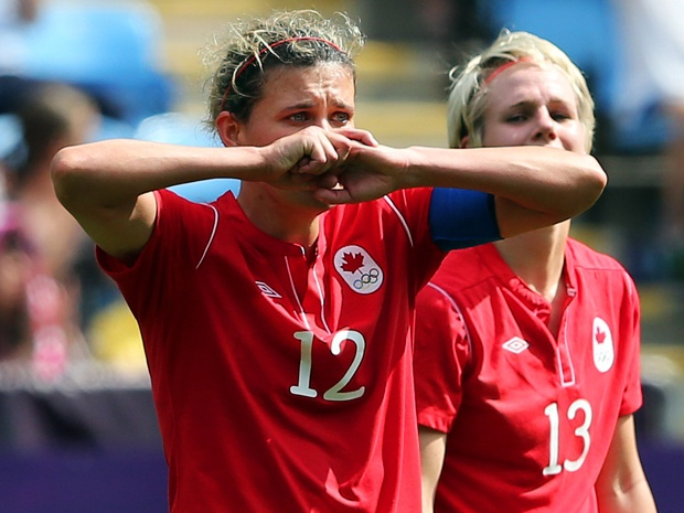 FIFA suspends Canadian soccer player Christine Sinclair for 4 games 'for displaying unsporting behavior towards match officials' following the Olympic semi-final match against the US. (via National Post)