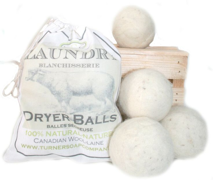 Charming 100% Natural Cotton Bag with 4 wool Dryer Balls.