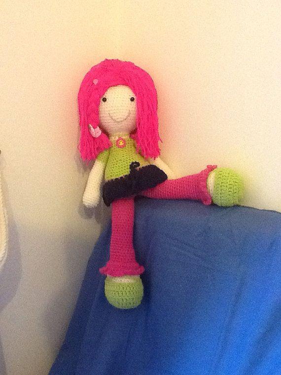 Pink hair doll by EvalestAmigurumi on Etsy