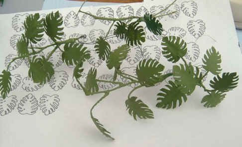 PHILODENDRON how to with leaf templates (Danish)