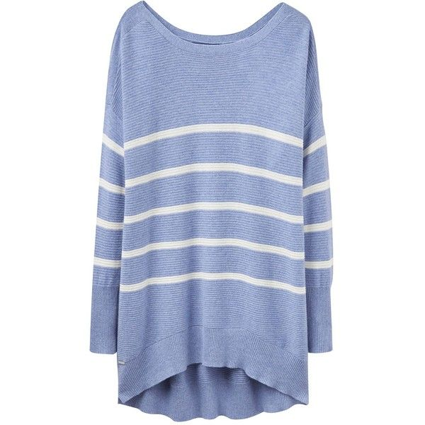 Joules Ottoman Rib Textured Jumper (4.380 RUB) ❤ liked on Polyvore featuring tops, sweaters, women knitwear, blue top, jumpers sweaters, jumper top, blue sweater and joules jumpers