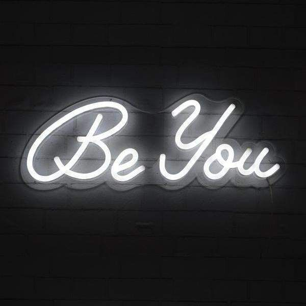 Be You In 2020 Neon Wall Art Neon Signs Quotes Neon Light Wallpaper