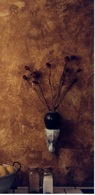 Faux Wall.... I love the leather look def going to do this in the bathroom.