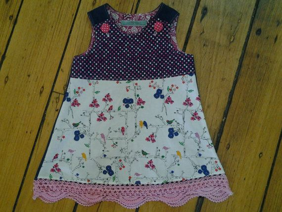 Hey, I found this really awesome Etsy listing at https://www.etsy.com/au/listing/231980045/size-1-spotty-birds-pinafore-with