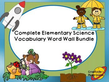 I hope that you can make great use of these vocabulary word wall cards all year round. Science standards differ from country to country and state to state.  I tried to cross reference standards from a variety of sources to gather a year long science word wall unit.