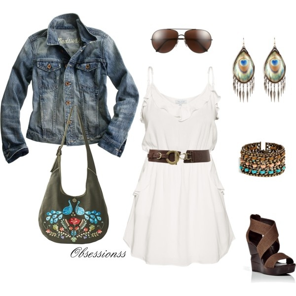 Blue Jean jacket!(:: Cowgirl Boots, Jeans Jackets, Blue Jeans, Outfit, Denim Jackets, White Sundresses, Cowboys Boots, The Dresses, White Dresses