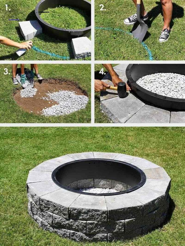 12 Easy and Cheap DIY Outdoor Fire Pit Ideas - The Handy ...