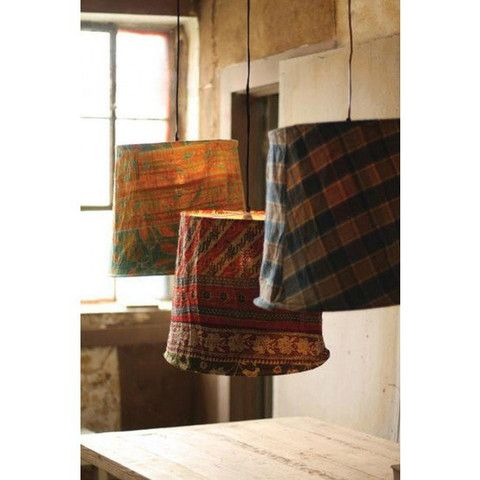 Kalalou Remnant Fabric Pendant L&s - Set Of 3 - Patterns will always vary. Each  sc 1 st  Pinterest & 102 best Kalalou Lighting || Modish images on Pinterest | Lights ... azcodes.com