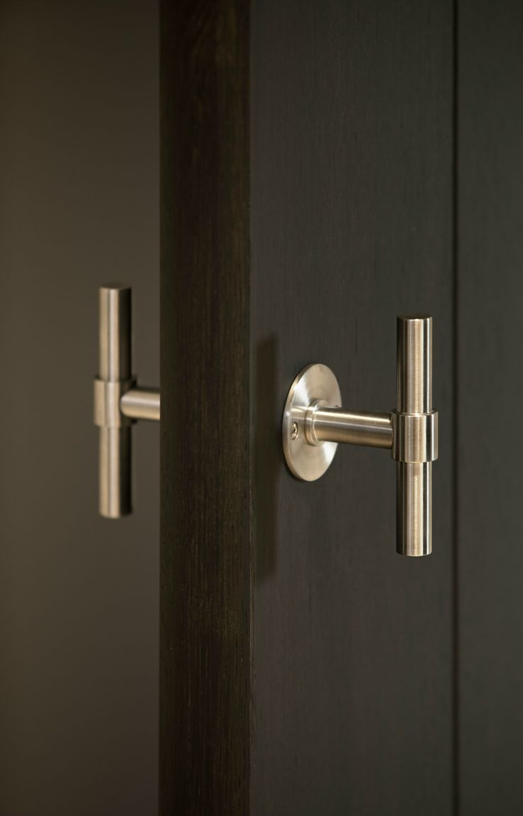 Stainless steel door knob ONE Series by FORMANI® | design Piet Boon