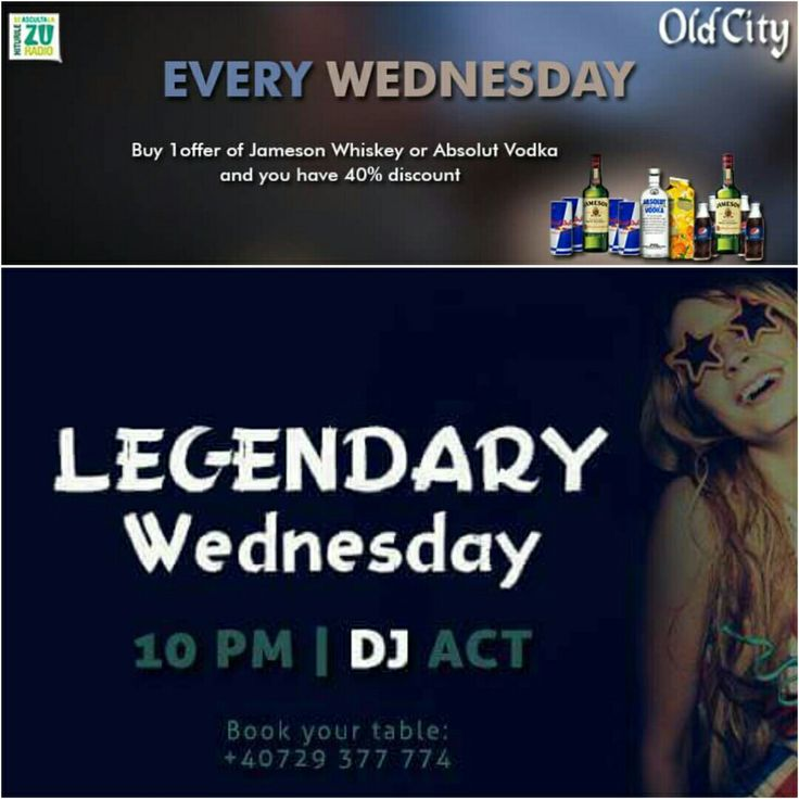 This #WEDNESDAY we are going to be #LEGENDARY at #OldCity on #Selari14 at 22:00! ▶️For reservation call: +40729 377 774