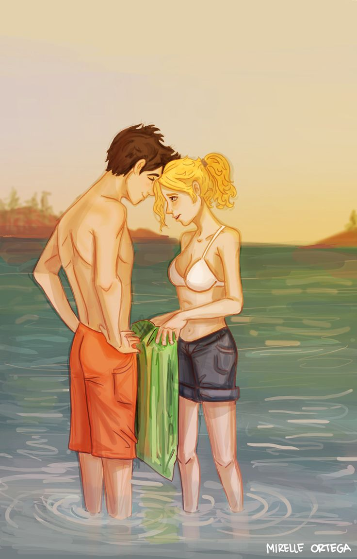 Percy And Annabeth by illustrationrookie.deviantart.com on @deviantART