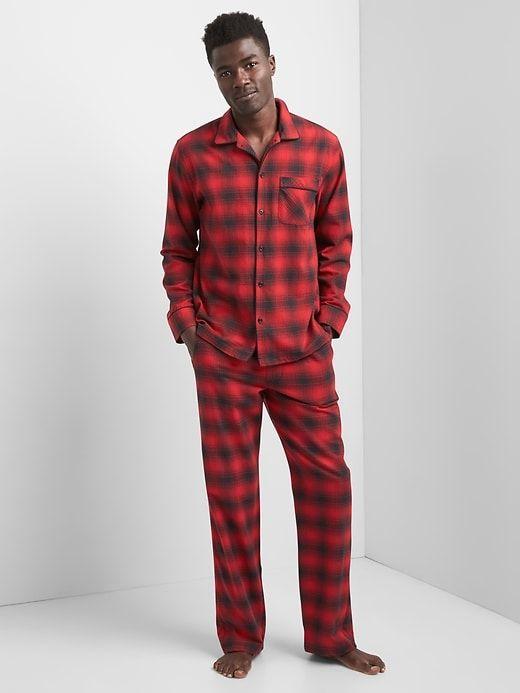b8c0dc6187 Gap Mens Flannel Pj Set Red Plaid