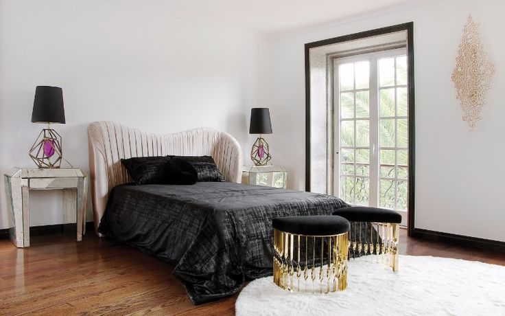 Tamara Nightstand - Gorgeous silvery nightstand for the modern master bedroom